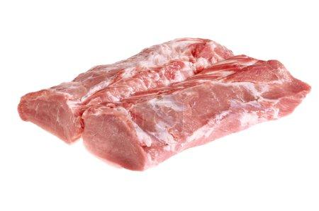 Fresh, raw meat Isolated on white background