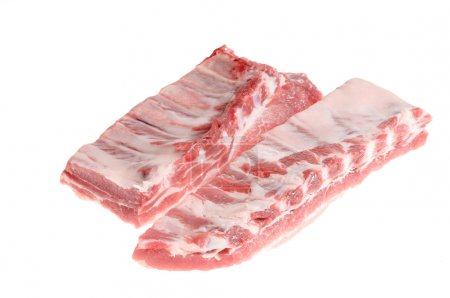 Pork ribs isolated on white background