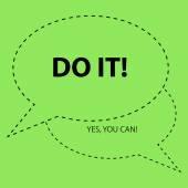 Motivation slogan just do it Shia LaBeouf motivational speech Abstract background vector illustration