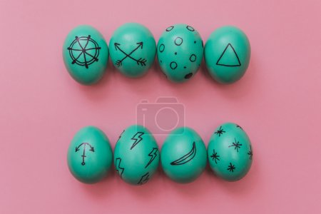 hipster colored Easter eggs