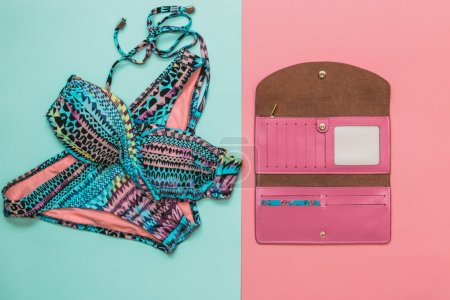 crazy colored swimsuit with wallet