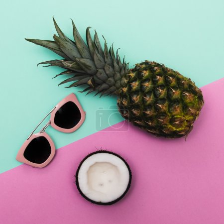 sunglasses with tropical fruits