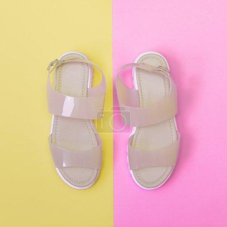 light rose plastic sandals