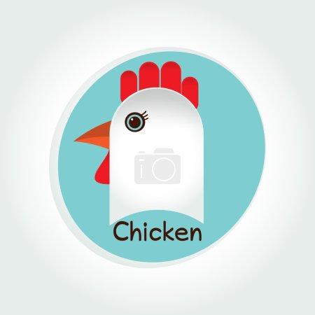 Chicken food logo vector