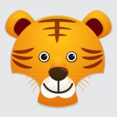 Vector image of cute face of tiger
