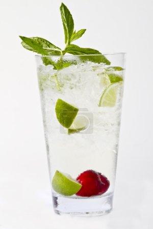 mojito cocktail on white