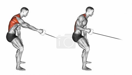 Standing one arm cable row