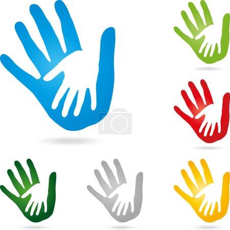 Hand, Physiotherapie, Vektor, Paar