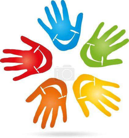 five, Hand, Kinderarzt, Lachen