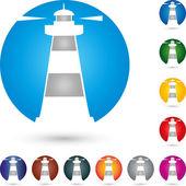 Logo Turm Leuchtturm Leuchtfeuer