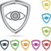 Logo Auge Schild Wappen Sammlung Sicherheit