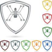Digital Spinne Logo Wappen Schild