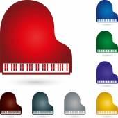 Klavier Pianino Logo Musik