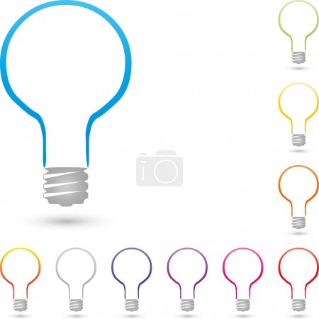 Lampe, Logo, Elektriker, Licht