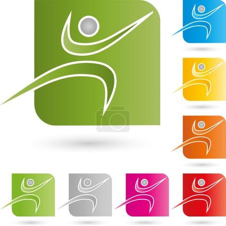 Mensch, Bewegung, Sport, Logo