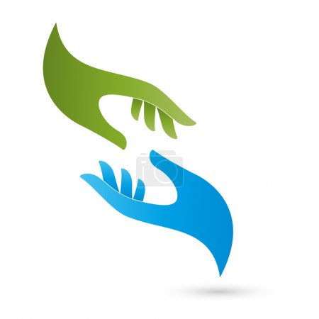 Two hands, Logo, Seelsorge, Massage