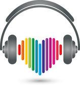 Herz headphones Musik Logo Sound