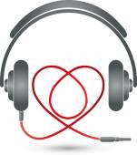 headphones Herz Musik Logo Musik Liebe