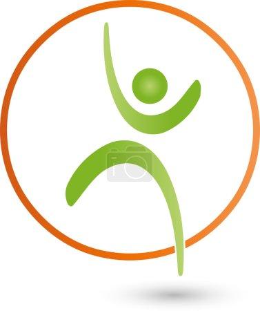 Mensch, Sport, Fitness, Sportmedizin, Logo