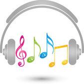 headphones Musik Logo Sound Noten