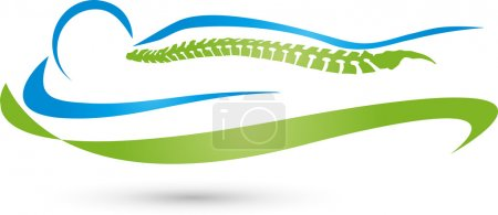Back, spine, orthopedics, massage Logo