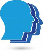 People faces heads people logo