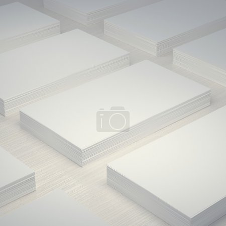 Mockup layout white blank business card 50x90