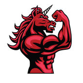 Unicorn Bodybuilder Muscular Body