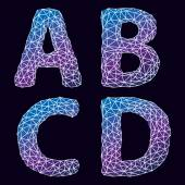 Vector abstract alphabet Letters A B C D