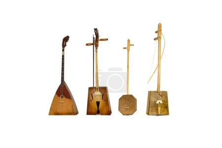 Photo for Set old Kalmyk folk stringed musical instrument - Royalty Free Image