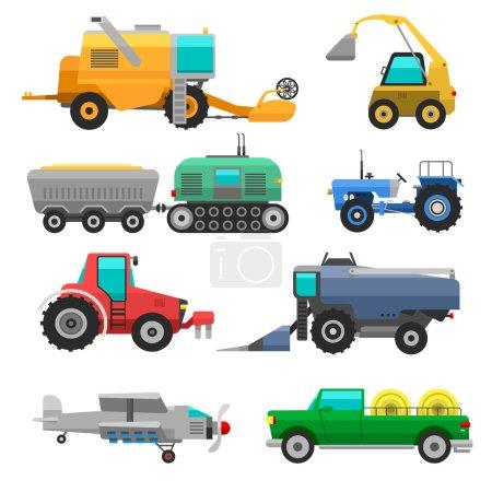 Harvester machine vector vehicle