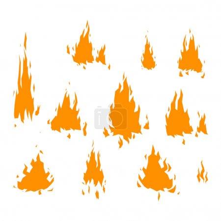 Fire flame vectorisolated