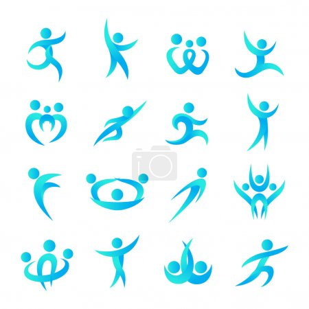 Abstract people silhouette icon