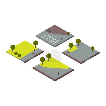 illustration of isometric land section