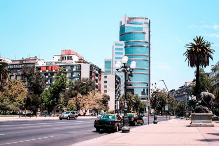 Buildings and Streets of Santiago City in Chile