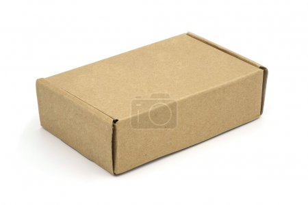 A brown box, being closed