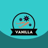 Flat vector icon design collection  Kitchenware seasoning vanilla