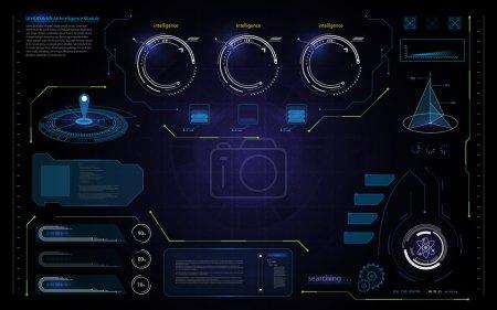 Abstract UI hud interface