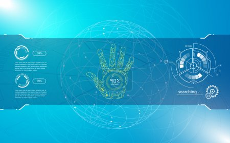 Hand scan identify concept