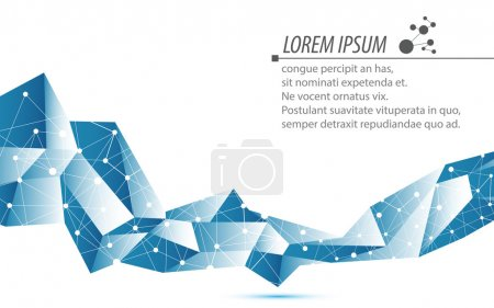 Photo for Vector abstract technology concept background - Royalty Free Image