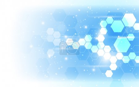 Illustration for Vector abstract hexagon pattern background - Royalty Free Image