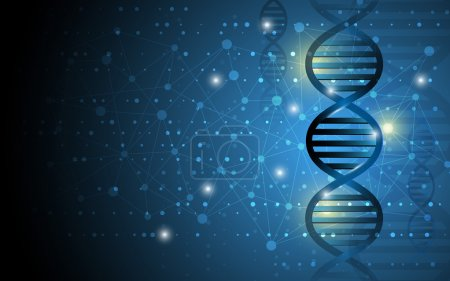Science dna structure design background