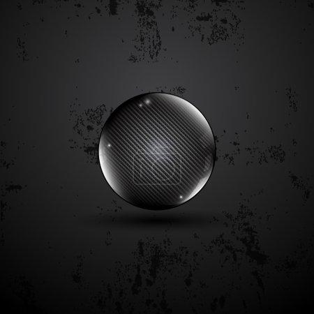 Kevlar texture sphere hi tech concept