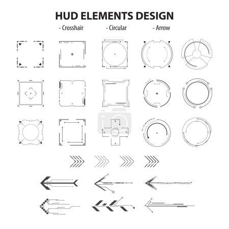 Icons technology hud elements