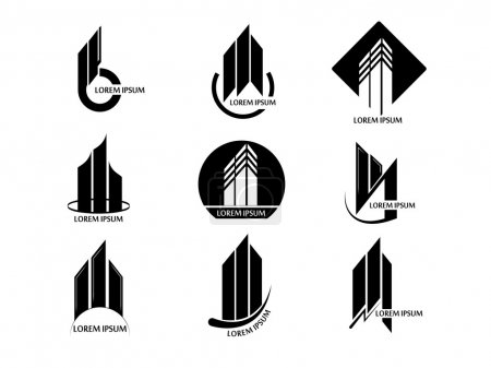 Set of abstract real estate logos