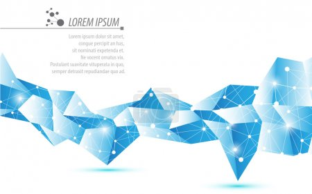 Polygonal pattern hi tech background