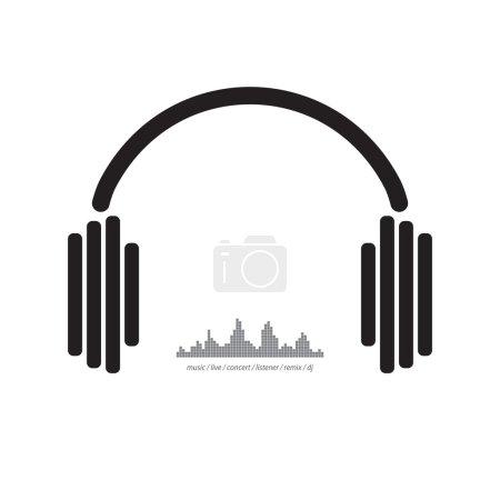 Earphones dj music concept