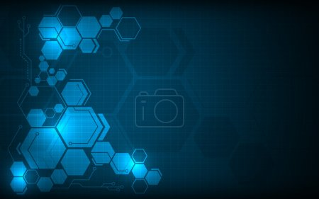 Hexagon pattern hi tech background