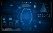 HUD interface UI future background