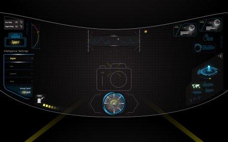Virtual reality hud ui interface